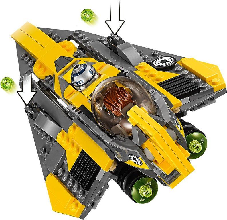 LEGO® Star Wars Anakin's Jedi Starfighter™ back side