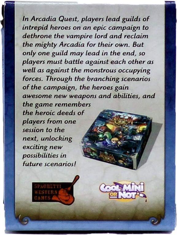 Arcadia Quest: Aeric parte posterior de la caja