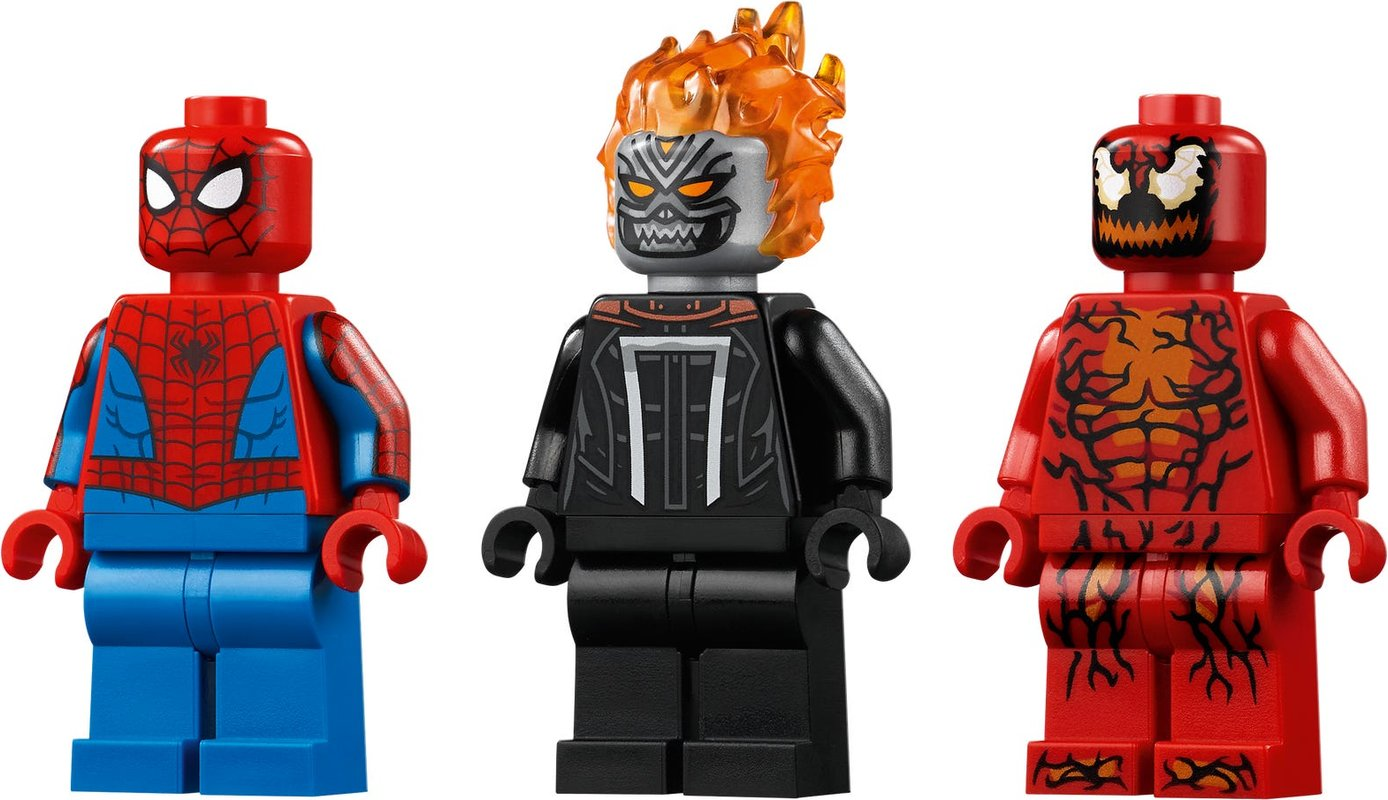 Spider-Man and Ghost Rider vs. Carnage minifigures