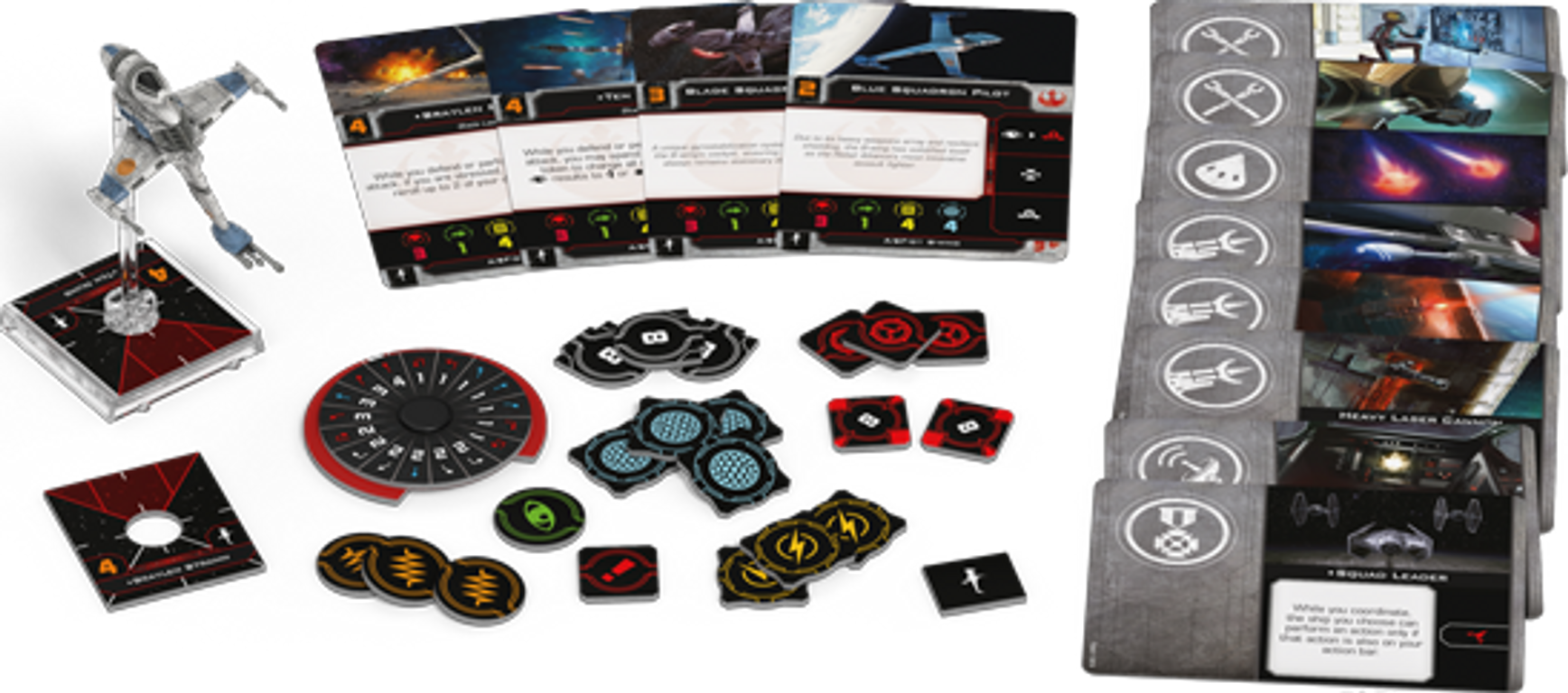 Star Wars: X-Wing (Second Edition) – A/SF-01 B-Wing Expansion Pack components