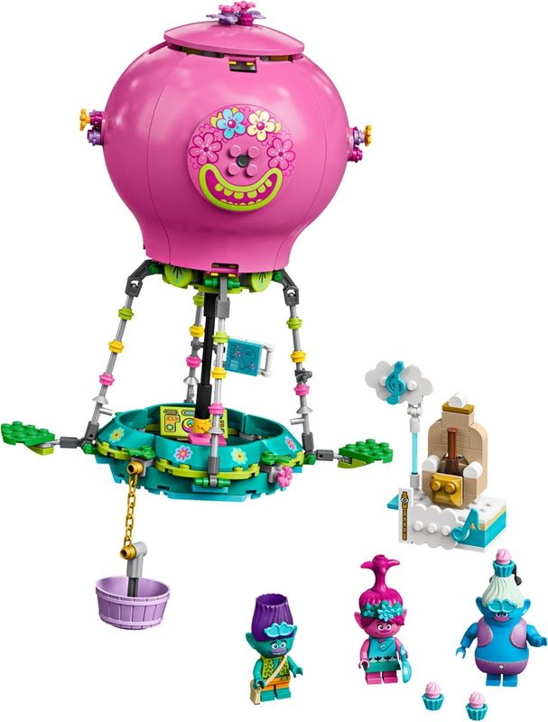 LEGO® Trolls Poppy's Hot Air Balloon Adventure components