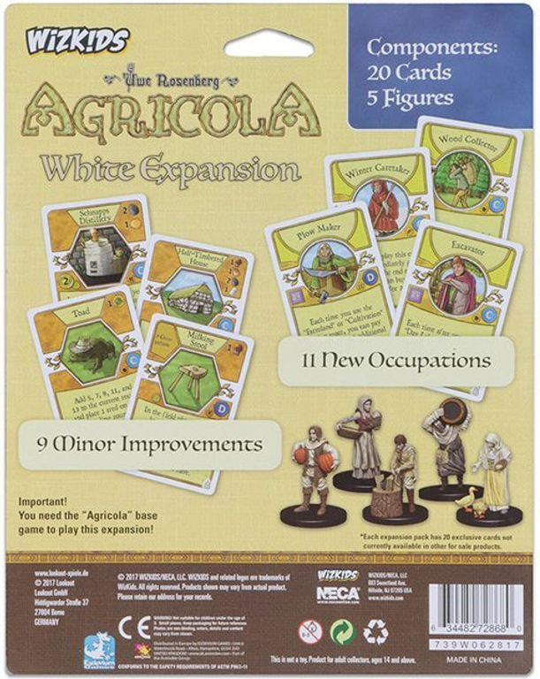 Agricola Game Expansion: White back of the box