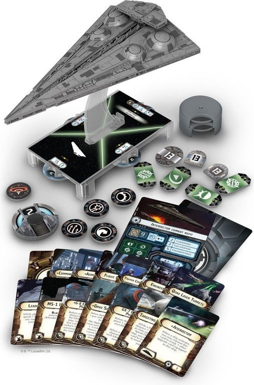 Star Wars: Armada - Interdictor Expansion Pack components