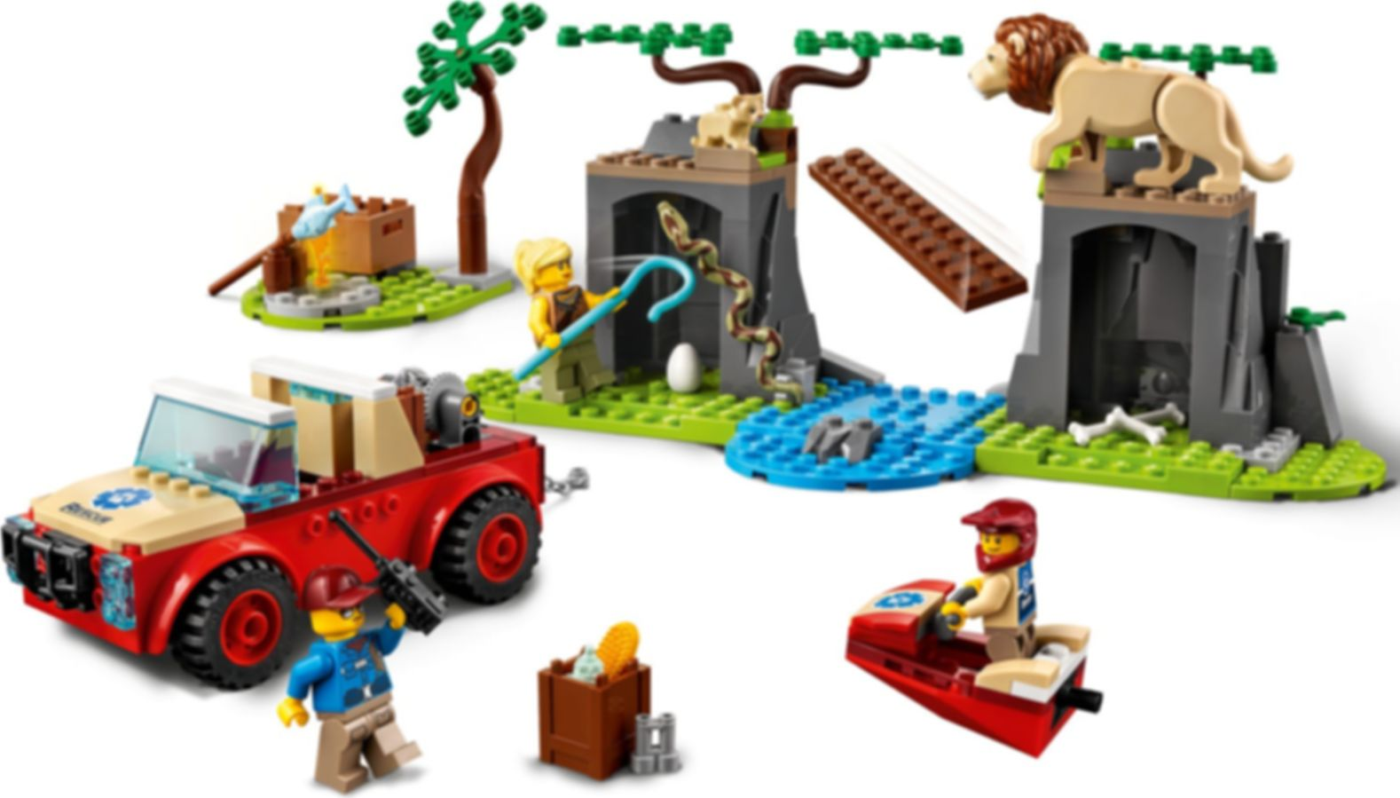 LEGO® City Wildlife Rescue Off-Roader gameplay