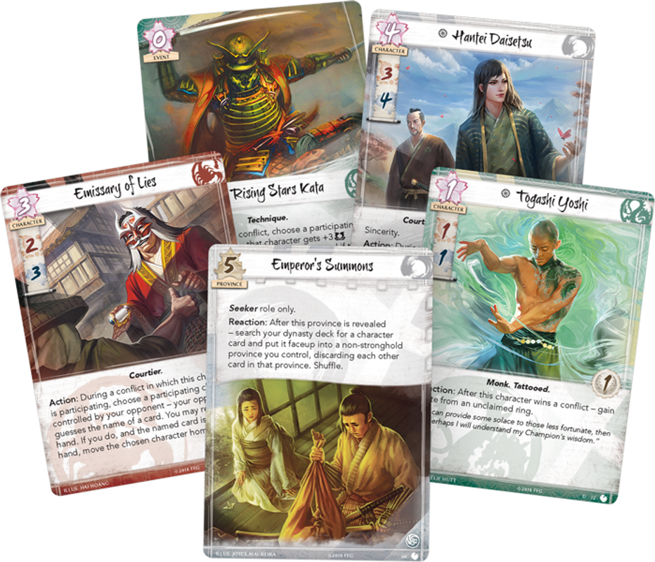 Legend of the Five Rings: The Card Game - The Children of Heaven cards