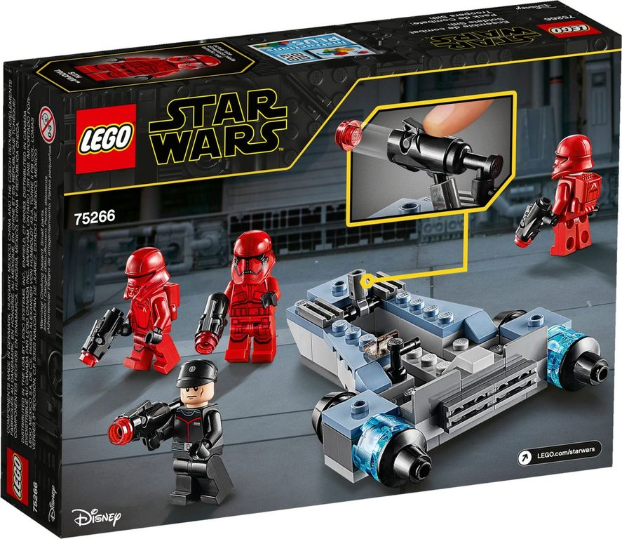 LEGO® Star Wars Sith Troopers™ Battle Pack back of the box
