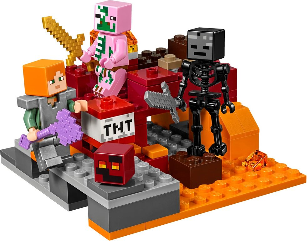 LEGO® Minecraft The Nether Fight minifigures