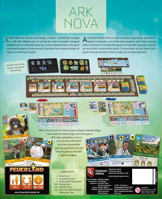 Ark Nova back of the box