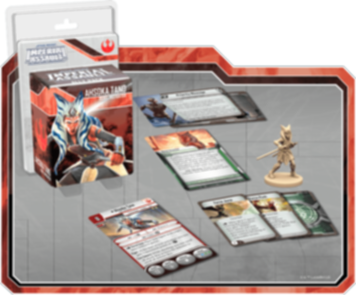 Star Wars: Imperial Assault - Ahsoka Tano Ally Pack components