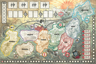 Rising Sun game board