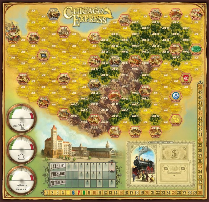 Chicago Express game board