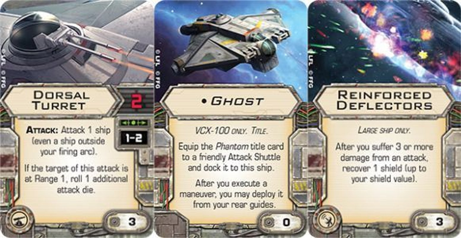 Star Wars: X-Wing Miniatures Game - Ghost Expansion Pack cards