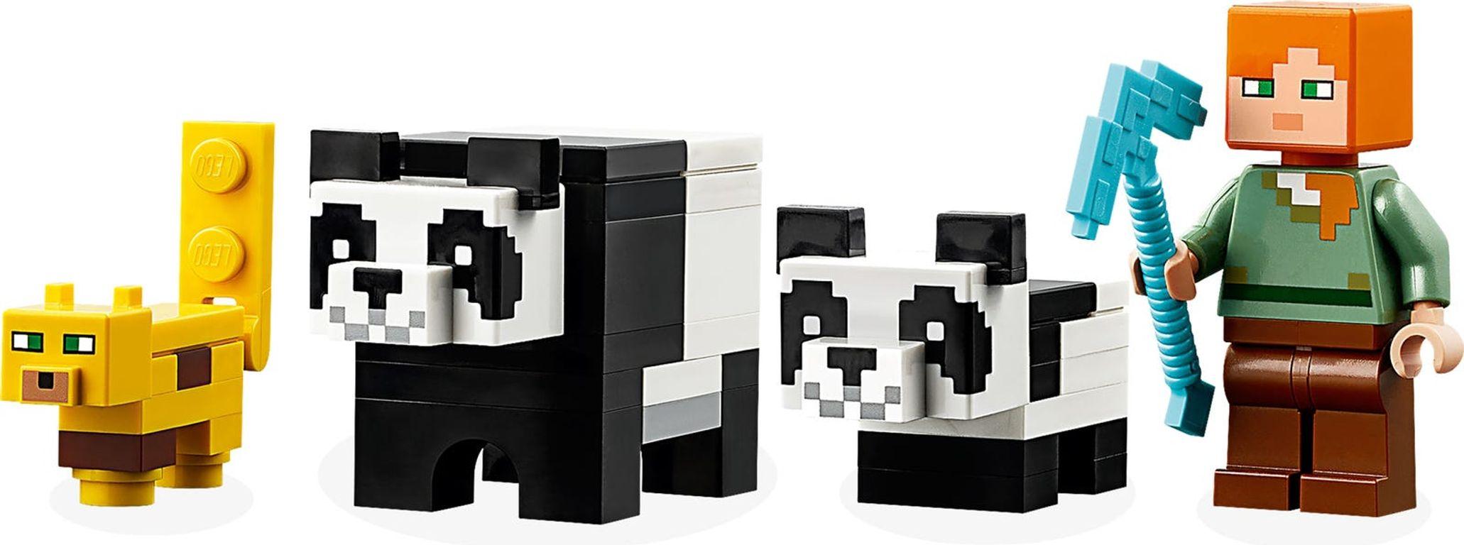 LEGO® Minecraft The Panda Kindergarten characters