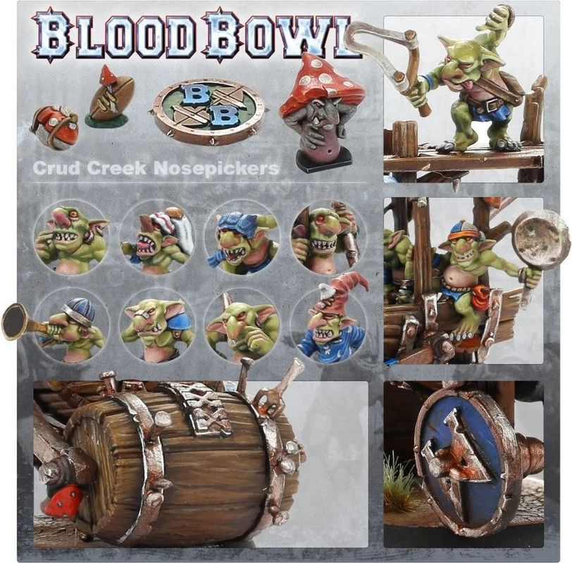 Blood Bowl (2016 edition): Crud Creek Nosepickers – Snotlings Bowl Team components