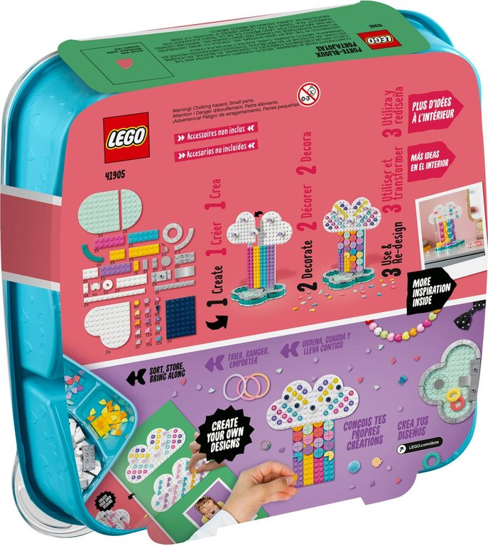 LEGO® DOTS Rainbow Jewelry Stand back of the box
