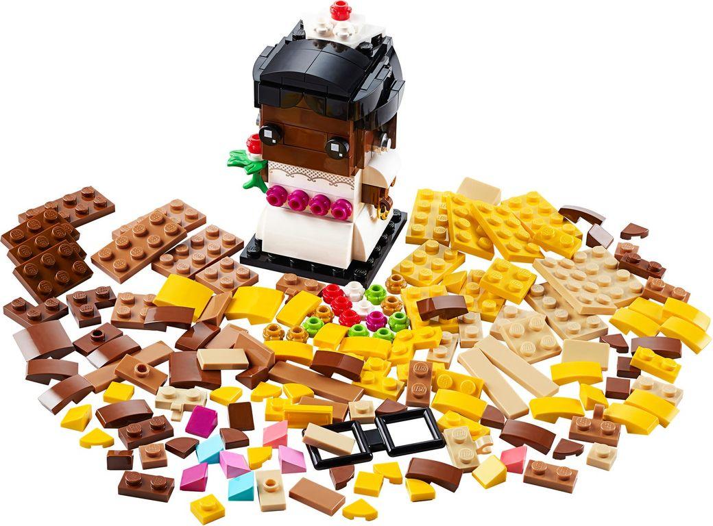 LEGO® BrickHeadz™ Wedding Bride components