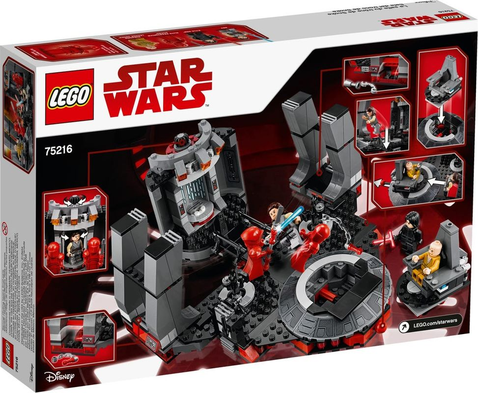 Snoke's Throne Room back of the box