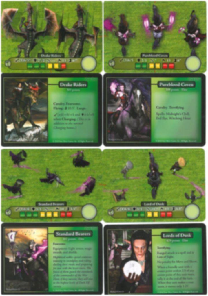 Battleground Fantasy Warfare: Dark Elves cards