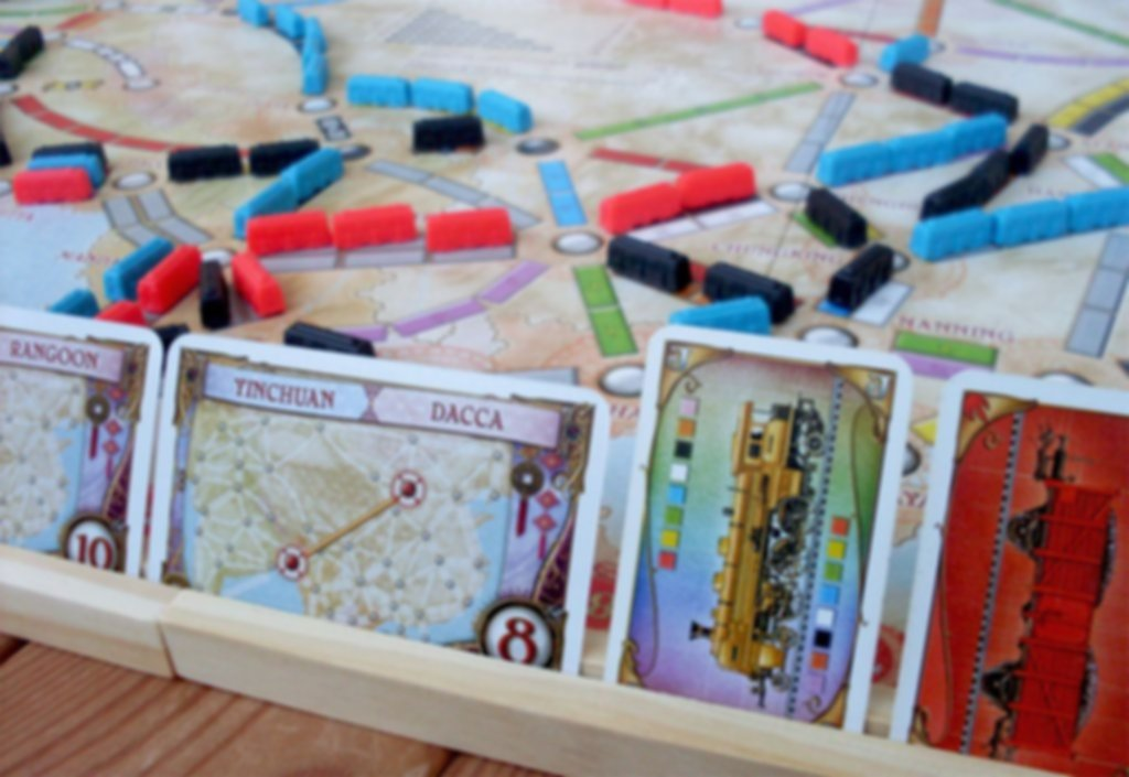 Ticket to Ride Map Collection: Volume 1 - Team Asia & Legendary Asia speelwijze