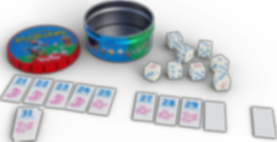 Tiny Tins: Regenwormen components