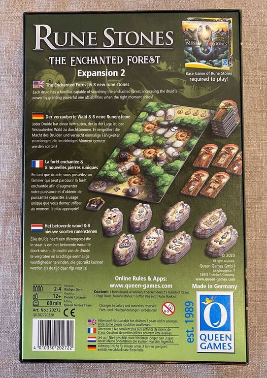 Rune Stones: Enchanted Forest back of the box