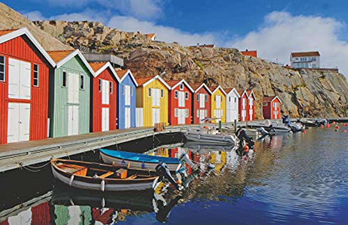 Colorful Scandinavian Houses