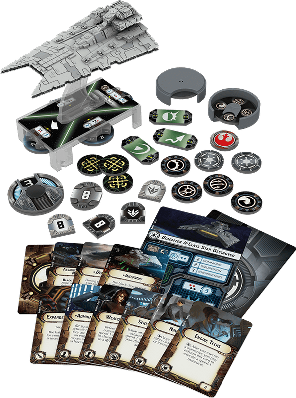 Star Wars: Armada - Gladiator-class Star Destroyer Expansion Pack components