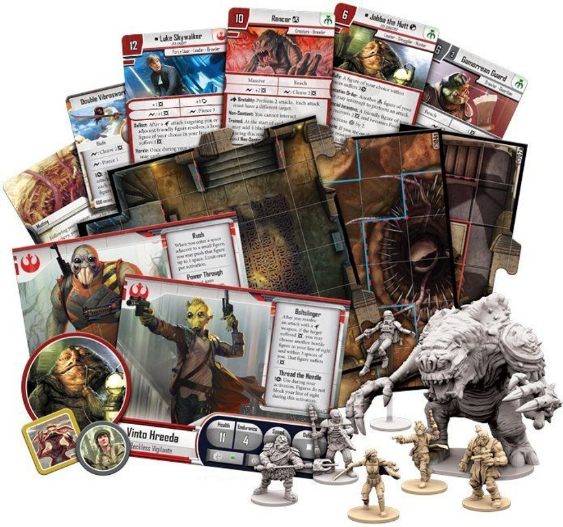Star Wars: Imperial Assault - Jabba's Realm components