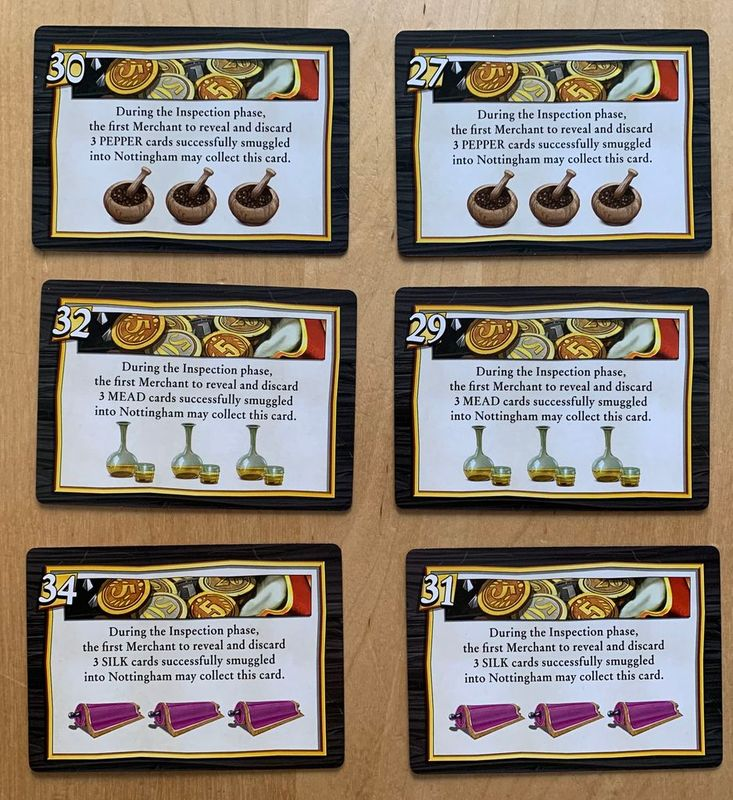Sheriff of Nottingham (Second Edition) cards