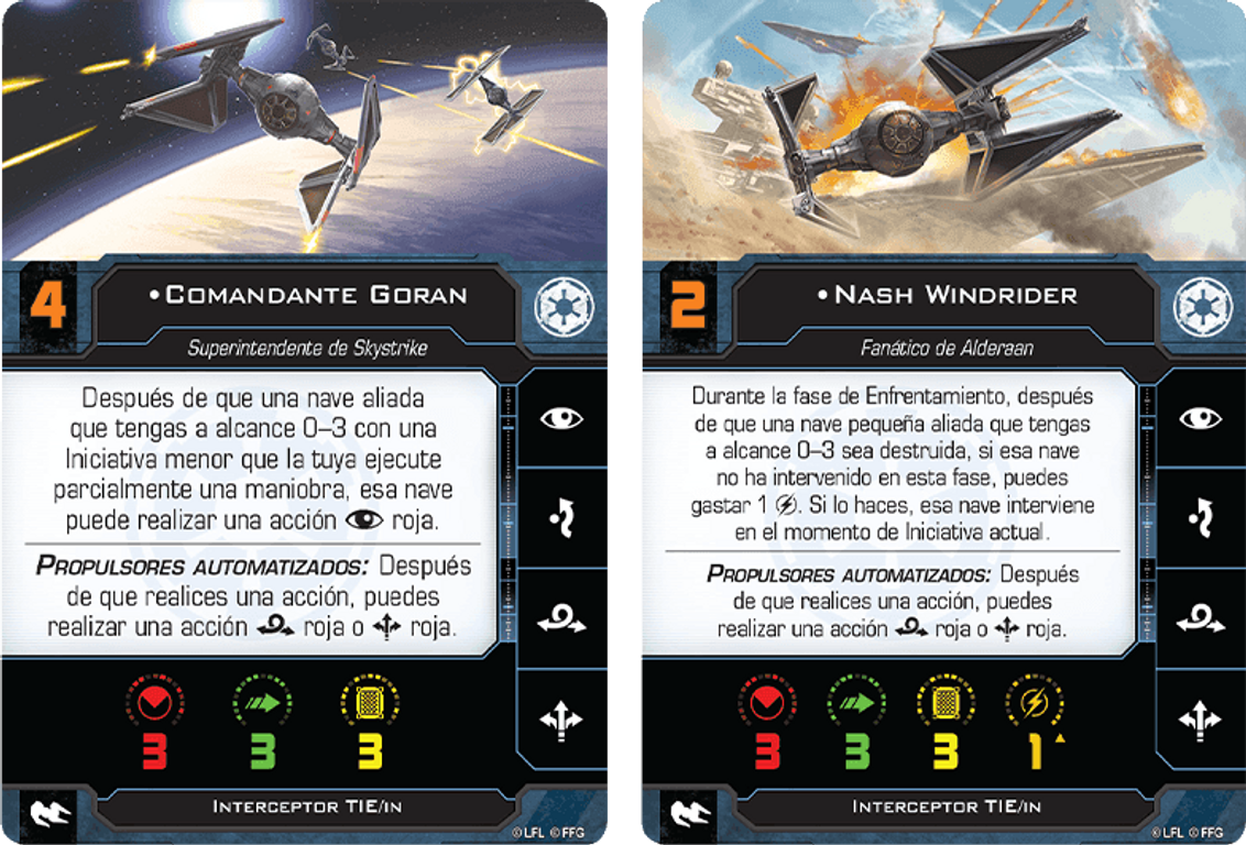 Star Wars: X-Wing (Second Edition) – Skystrike Academy Squadron Pack cards