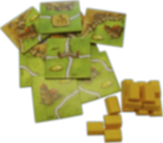 Carcassonne: The Gold Mines components