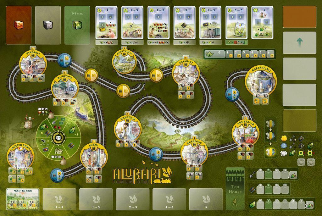 Alubari: A Nice Cup of Tea game board