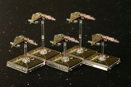 Star Wars: X-Wing Miniatures Game - Kihraxz Fighter Expansion Pack miniatures