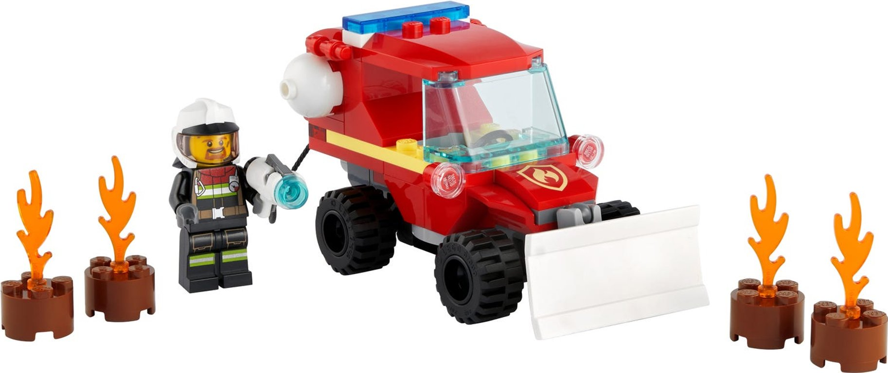 LEGO® City Fire Hazard Truck components