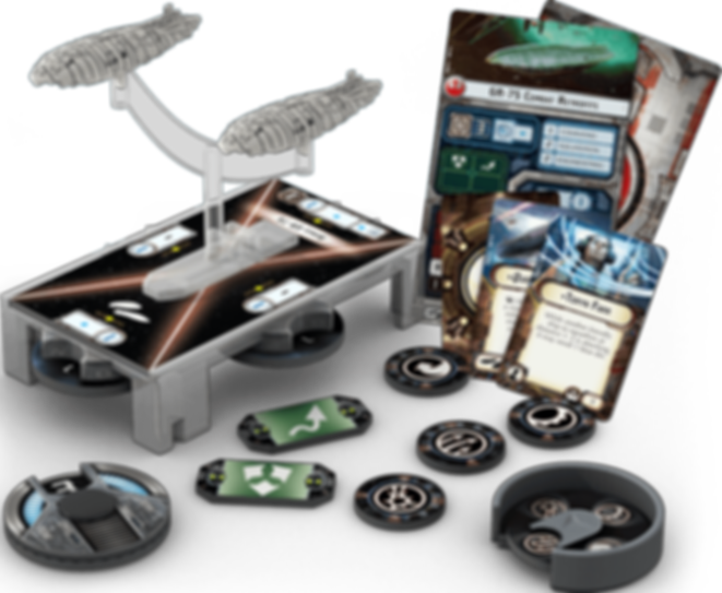 Star Wars: Armada - Rebel Transports Expansion Pack components