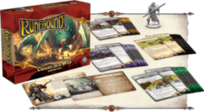 Runebound (Third Edition): Caught in a Web - Scenario Pack components