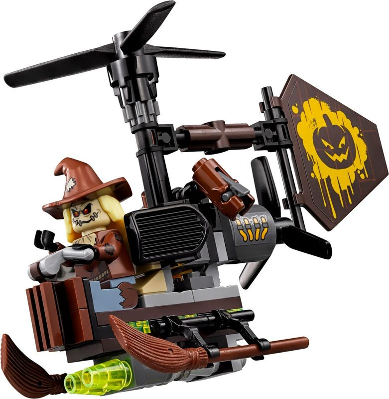 LEGO® Batman Movie Scarecrow™ Fearful Face-off components