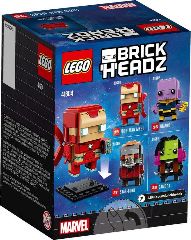 LEGO® BrickHeadz™ Iron Man MK50 back of the box