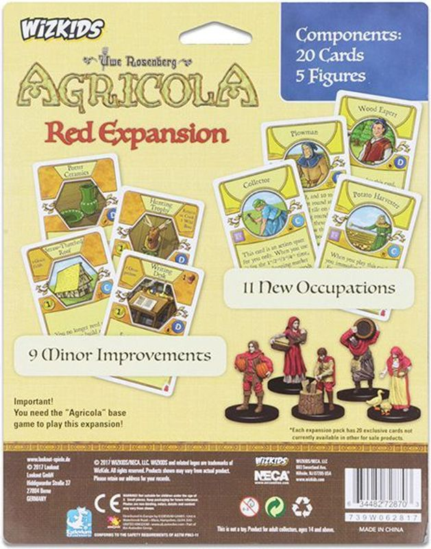 Agricola Game Expansion: Red back of the box