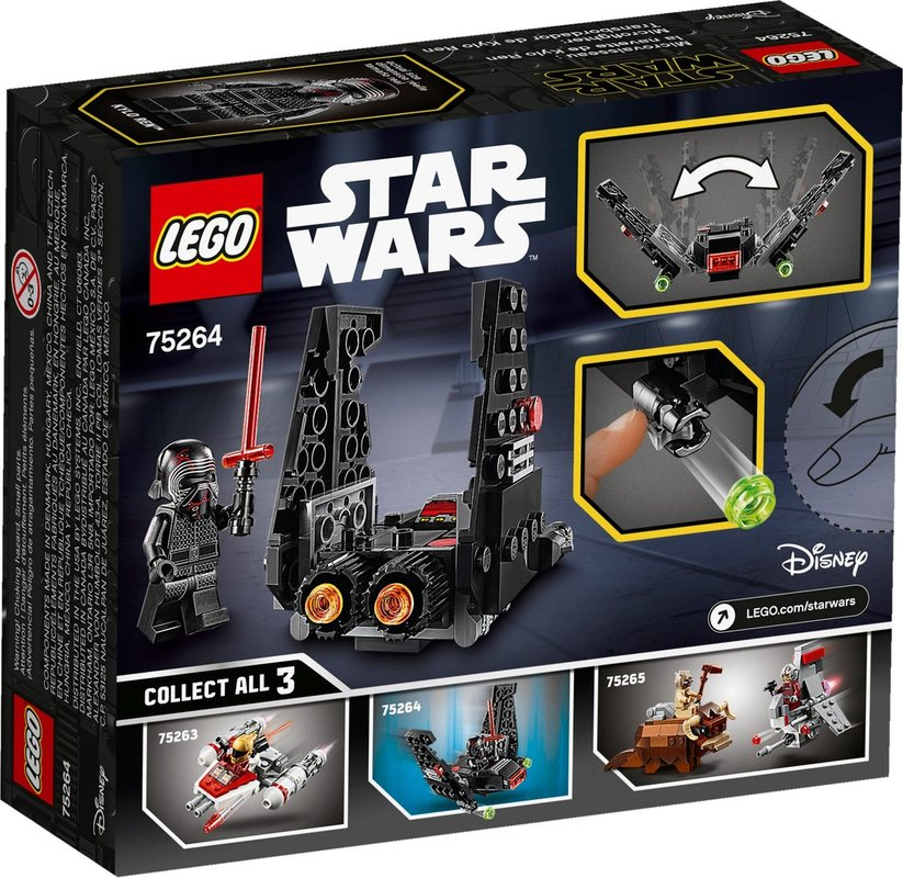 Kylo Rens Shuttle™ Microfighter back of the box
