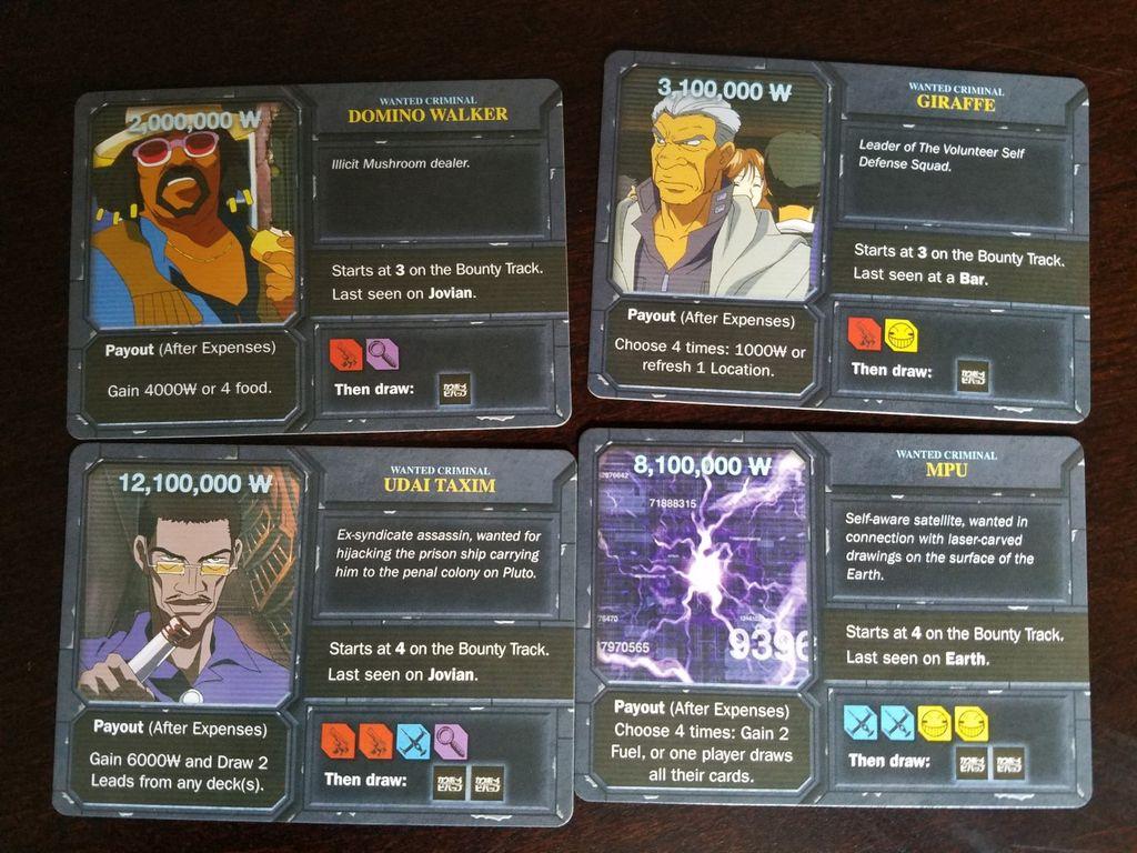 Cowboy Bebop: Boardgame Boogie cards