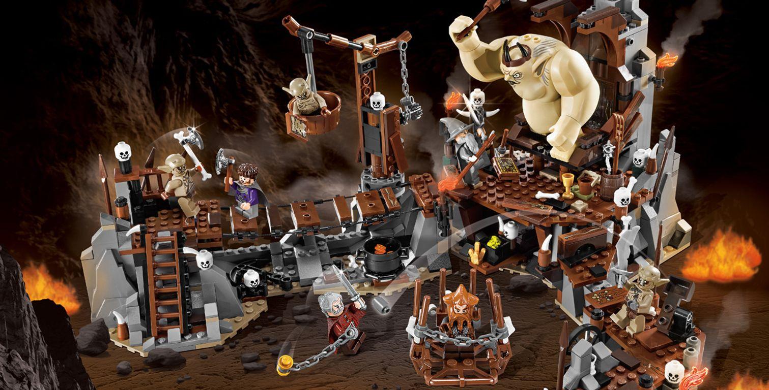 LEGO® The Hobbit The Goblin King Battle gameplay