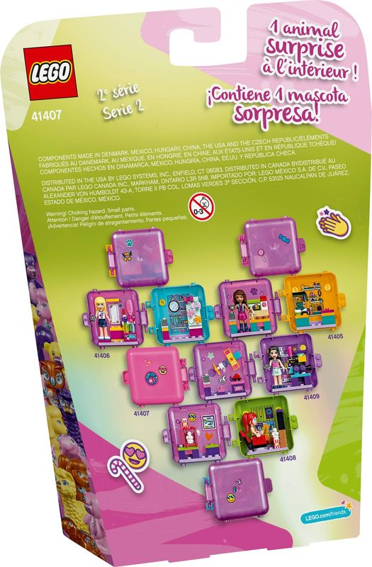 Olivia's Shopping Play Cube back of the box