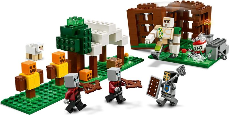 LEGO® Minecraft The Pillager Outpost gameplay