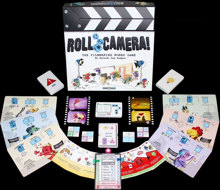 Roll Camera! The Filmmaking Board Game components