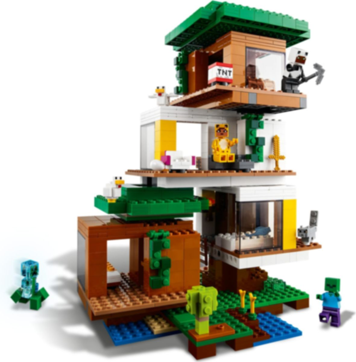 LEGO® Minecraft The Modern Treehouse gameplay