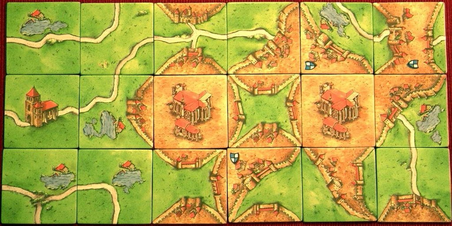 Carcassonne: Inns and Cathedrals tiles