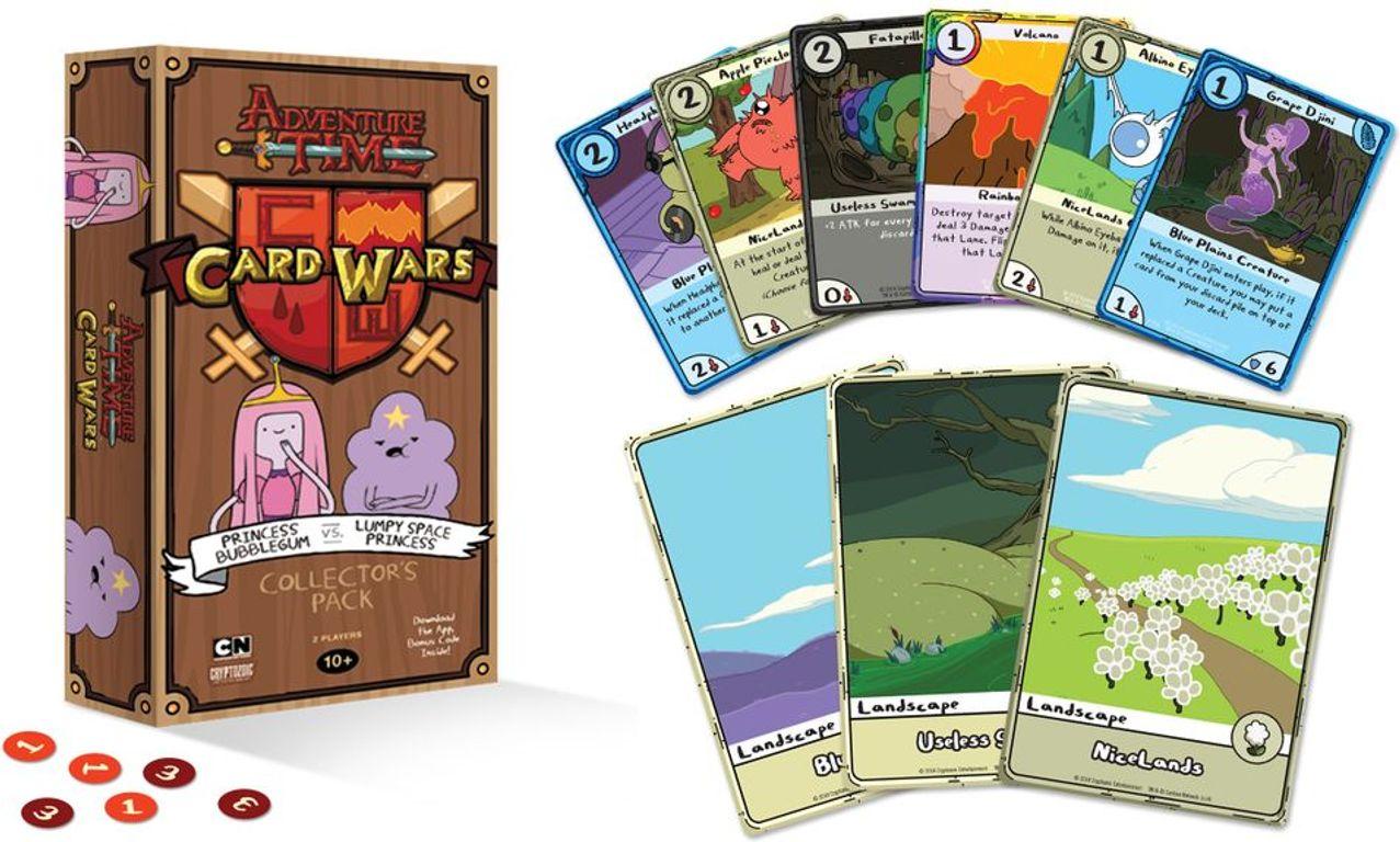 Adventure Time Card Wars: Princess Bubblegum vs. Lumpy Space Princess componenten