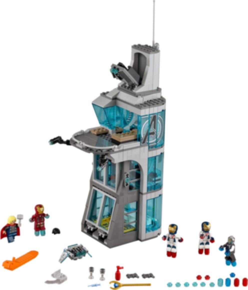 LEGO® Marvel Attack on Avengers Tower components