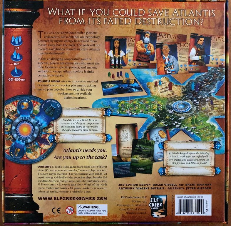 Atlantis Rising (Second Edition) back of the box
